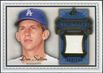 2009 Upper Deck SP Legendary Cuts Legendary Memorabilia Blue #DS Don Sutton /100
