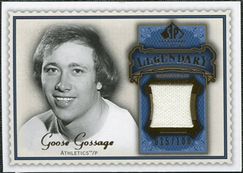2009 Upper Deck SP Legendary Cuts Legendary Memorabilia Blue #GG Goose Gossage /100