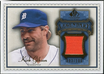 2009 Upper Deck SP Legendary Cuts Legendary Memorabilia Blue #GK2 Kirk Gibson /100