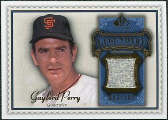 2009 Upper Deck SP Legendary Cuts Legendary Memorabilia Blue #GP Gaylord Perry /100
