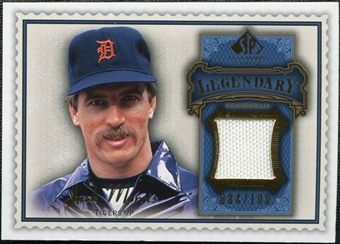 2009 Upper Deck SP Legendary Cuts Legendary Memorabilia Blue #MO Jack Morris /100