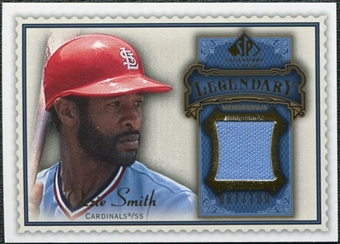 2009 Upper Deck SP Legendary Cuts Legendary Memorabilia Blue #OS3 Ozzie Smith /100