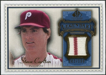 2009 Upper Deck SP Legendary Cuts Legendary Memorabilia Blue #SC2 Steve Carlton /100