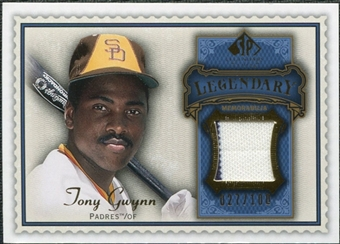2009 Upper Deck SP Legendary Cuts Legendary Memorabilia Blue #TG Tony Gwynn /100