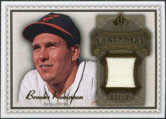 2009 Upper Deck SP Legendary Cuts Legendary Memorabilia Brown #BR2 Brooks Robinson /50