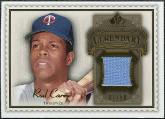2009 Upper Deck SP Legendary Cuts Legendary Memorabilia Brown #CA Rod Carew /50