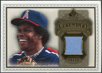 2009 Upper Deck SP Legendary Cuts Legendary Memorabilia Brown #CA2 Rod Carew /50