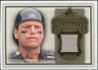 2009 Upper Deck SP Legendary Cuts Legendary Memorabilia Brown #CF3 Carlton Fisk /50