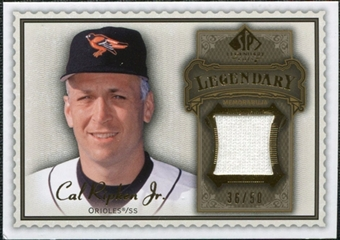2009 Upper Deck SP Legendary Cuts Legendary Memorabilia Brown #CR Cal Ripken Jr. /50