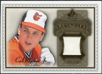 2009 Upper Deck SP Legendary Cuts Legendary Memorabilia Brown #CR2 Cal Ripken Jr. /50