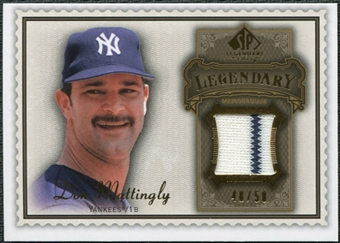 2009 Upper Deck SP Legendary Cuts Legendary Memorabilia Brown #DM2 Don Mattingly /50