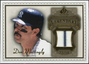 2009 Upper Deck SP Legendary Cuts Legendary Memorabilia Brown #DM3 Don Mattingly /50