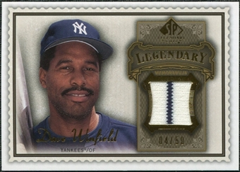 2009 Upper Deck SP Legendary Cuts Legendary Memorabilia Brown #DW Dave Winfield /50