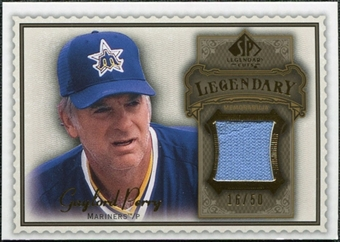 2009 Upper Deck SP Legendary Cuts Legendary Memorabilia Brown #GP2 Gaylord Perry /50