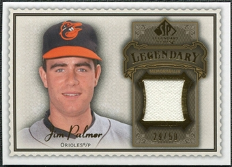 2009 Upper Deck SP Legendary Cuts Legendary Memorabilia Brown #JP Jim Palmer /50