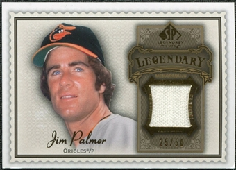 2009 Upper Deck SP Legendary Cuts Legendary Memorabilia Brown #JP2 Jim Palmer /50