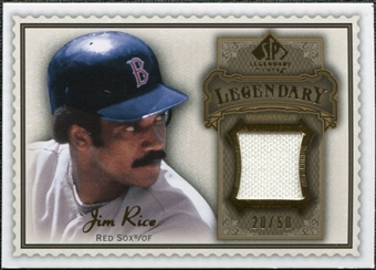 2009 Upper Deck SP Legendary Cuts Legendary Memorabilia Brown #JR2 Jim Rice 20/50