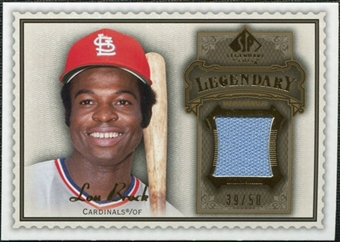 2009 Upper Deck SP Legendary Cuts Legendary Memorabilia Brown #LB Lou Brock /50
