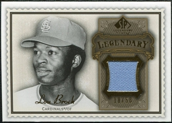 2009 Upper Deck SP Legendary Cuts Legendary Memorabilia Brown #LB2 Lou Brock /50