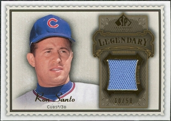 2009 Upper Deck SP Legendary Cuts Legendary Memorabilia Brown #SA Ron Santo /50
