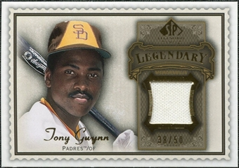 2009 Upper Deck SP Legendary Cuts Legendary Memorabilia Brown #TG Tony Gwynn /50