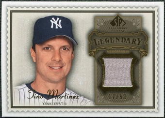 2009 Upper Deck SP Legendary Cuts Legendary Memorabilia Brown #TM Tino Martinez /50