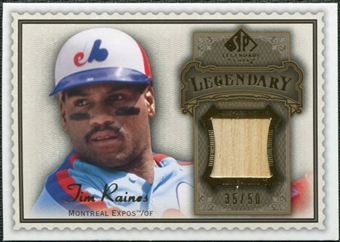 2009 Upper Deck SP Legendary Cuts Legendary Memorabilia Brown #TR Tim Raines /50