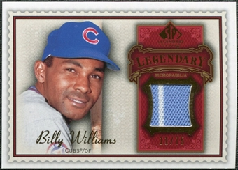 2009 Upper Deck SP Legendary Cuts Legendary Memorabilia Red #BW2 Billy Williams /75