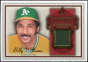 2009 Upper Deck SP Legendary Cuts Legendary Memorabilia Red #BW3 Billy Williams /75