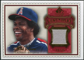 2009 Upper Deck SP Legendary Cuts Legendary Memorabilia Red #CA2 Rod Carew /75
