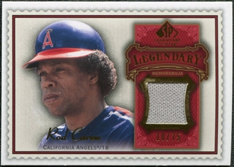 2009 Upper Deck SP Legendary Cuts Legendary Memorabilia Red #CA3 Rod Carew /75