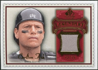 2009 Upper Deck SP Legendary Cuts Legendary Memorabilia Red #CF3 Carlton Fisk /75