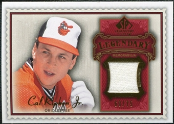2009 Upper Deck SP Legendary Cuts Legendary Memorabilia Red #CR2 Cal Ripken Jr. /75