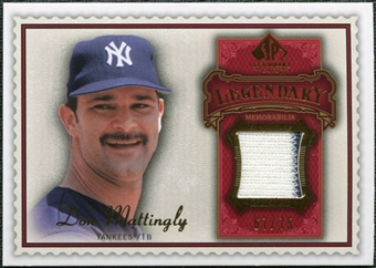 2009 Upper Deck SP Legendary Cuts Legendary Memorabilia Red #DM2 Don Mattingly /75
