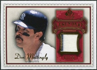 2009 Upper Deck SP Legendary Cuts Legendary Memorabilia Red #DM3 Don Mattingly /75