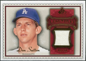 2009 Upper Deck SP Legendary Cuts Legendary Memorabilia Red #DS Don Sutton /75