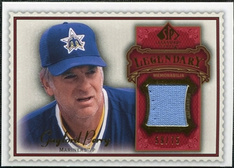 2009 Upper Deck SP Legendary Cuts Legendary Memorabilia Red #GP2 Gaylord Perry /75