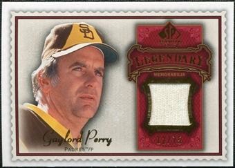 2009 Upper Deck SP Legendary Cuts Legendary Memorabilia Red #GP4 Gaylord Perry /75