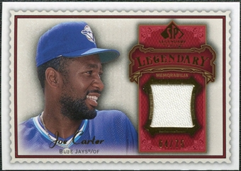 2009 Upper Deck SP Legendary Cuts Legendary Memorabilia Red #JC2 Joe Carter /75