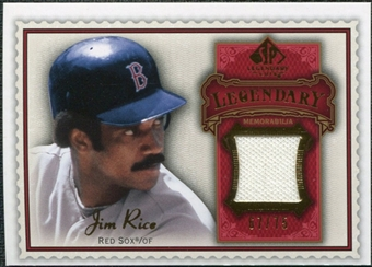 2009 Upper Deck SP Legendary Cuts Legendary Memorabilia Red #JR2 Jim Rice /75