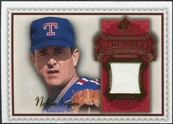 2009 Upper Deck SP Legendary Cuts Legendary Memorabilia Red #NR2 Nolan Ryan /75