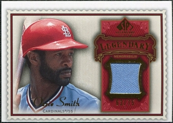 2009 Upper Deck SP Legendary Cuts Legendary Memorabilia Red #OS3 Ozzie Smith /75