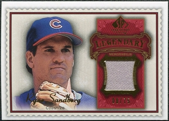2009 Upper Deck SP Legendary Cuts Legendary Memorabilia Red #RS Ryne Sandberg /75