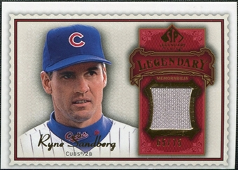 2009 Upper Deck SP Legendary Cuts Legendary Memorabilia Red #RS2 Ryne Sandberg /75