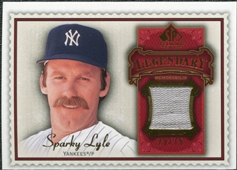 2009 Upper Deck SP Legendary Cuts Legendary Memorabilia Red #SL2 Sparky Lyle /75