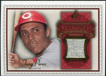 2009 Upper Deck SP Legendary Cuts Legendary Memorabilia Red #TP2 Tony Perez /75