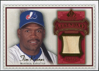 2009 Upper Deck SP Legendary Cuts Legendary Memorabilia Red #TR2 Tim Raines /75