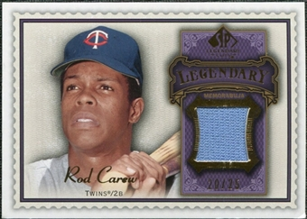 2009 Upper Deck SP Legendary Cuts Legendary Memorabilia Violet #CA Rod Carew /25
