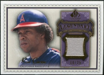 2009 Upper Deck SP Legendary Cuts Legendary Memorabilia Violet #CA3 Rod Carew /25
