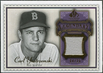 2009 Upper Deck SP Legendary Cuts Legendary Memorabilia Violet #CY2 Carl Yastrzemski /25
